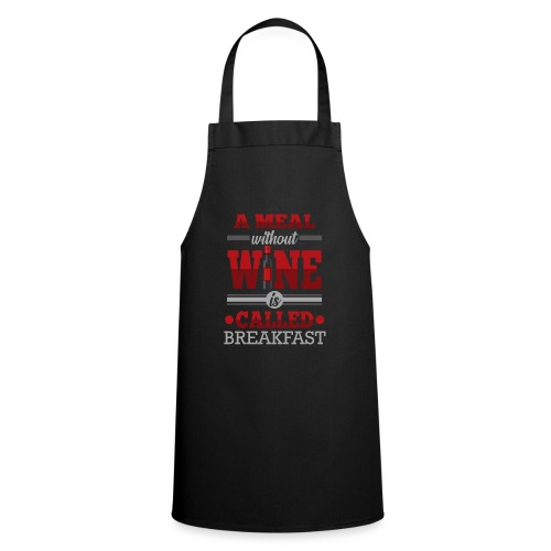 Food requires wine - Funny wine gift idea - Cooking Apron