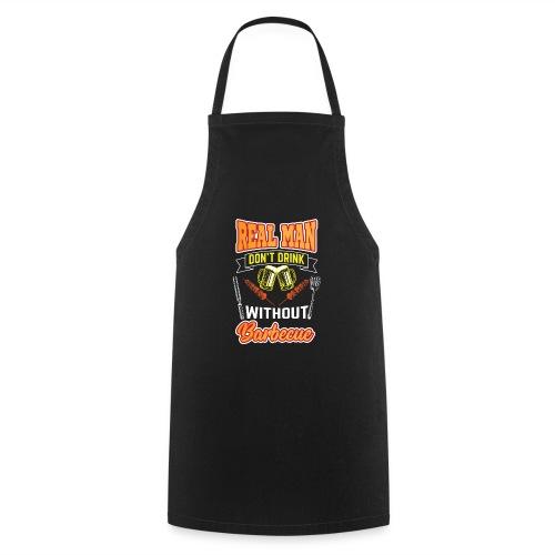 Drink und BBQ Grill Meister Design Geschenk Idee - Kochschürze