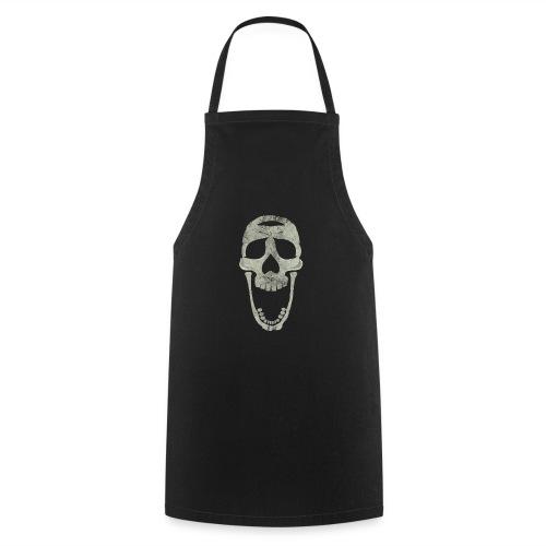 skull scary face - Delantal de cocina