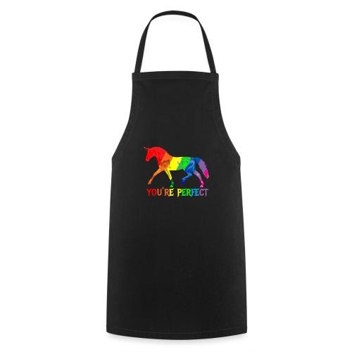 Regenbogen Einhorn - You´re perfect - Kochschürze