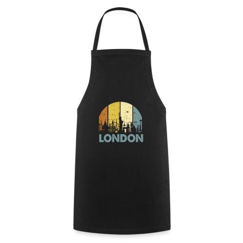 Vintage London Souvenir - Retro Skyline London - Kochschürze