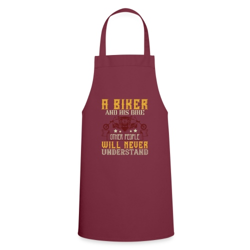 A biker and his bike. - Cooking Apron