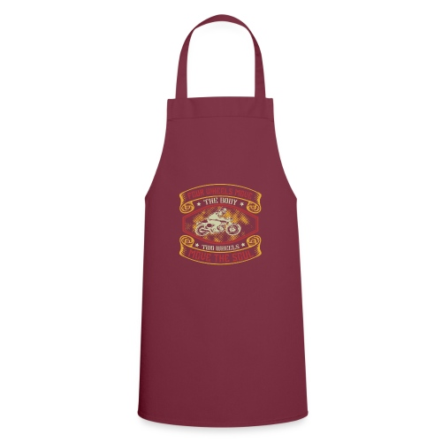 Four wheels move the body two wheels move the soul - Cooking Apron
