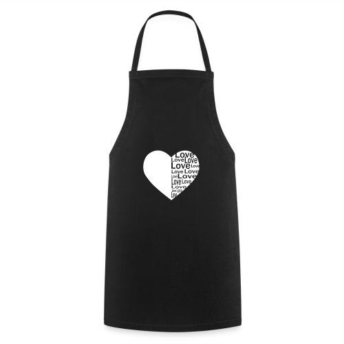 Heart Love, Herz Liebe - Kochschürze