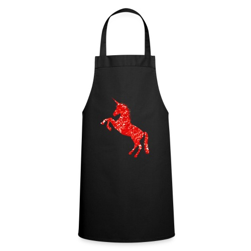 unicorn red - Fartuch kuchenny