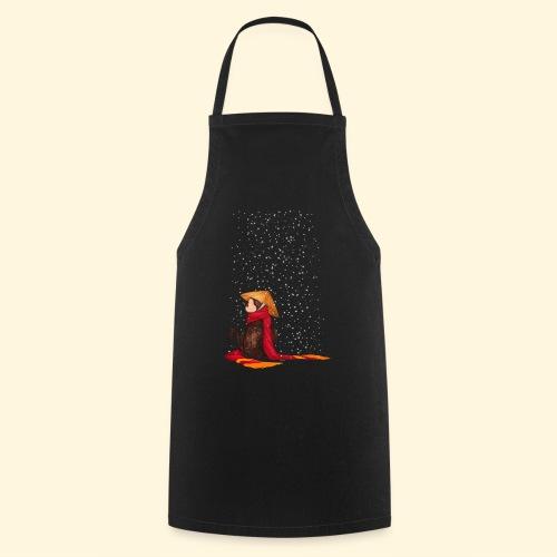 Un singe en hiver sous la neige - Tablier de cuisine