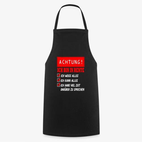 Ich bin in Rente - Rentner 2021 Rentnerin 2021 - Kochschürze