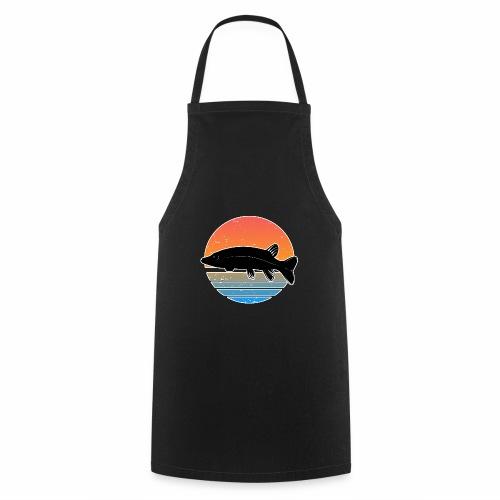Retro Hecht Angeln Fisch Wurm Raubfisch Shirt - Kochschürze