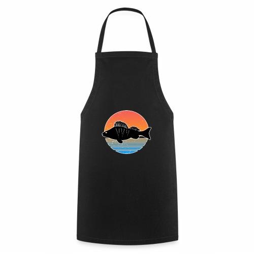 Retro Barsch Angeln Fisch Wurm Raubfisch Shirt - Kochschürze