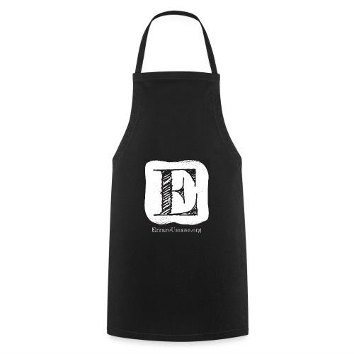 Logo ErrareUmano con scritta bianca - Grembiule da cucina