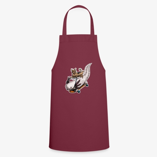 Yorkie and Axolotl dark T - Cooking Apron