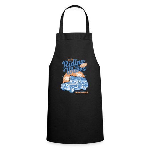 Ladies Surf Style T-shirt - Riding the Waves - Cooking Apron