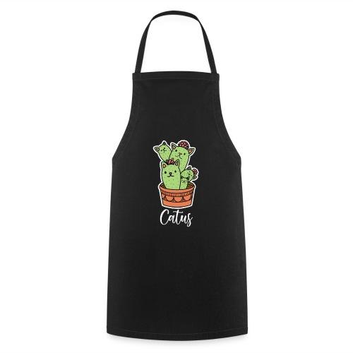 Catus Pflanze oder Tier Katze Kaktus lustig - Kochschürze