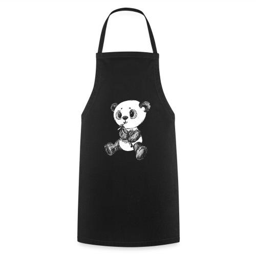 Panda Bär weiß scribblesirii - Kochschürze