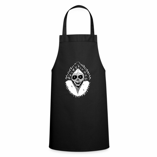 Grimp reaper blank text black & white - Tablier de cuisine