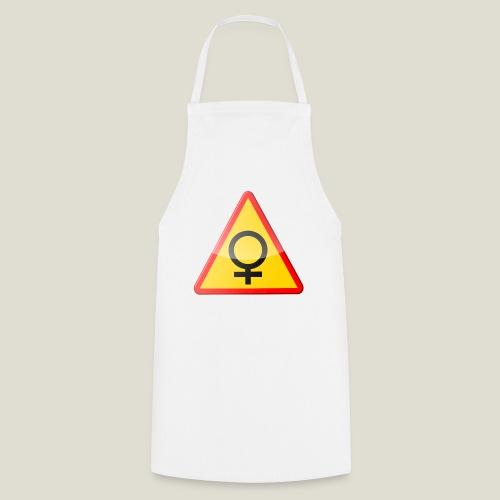 Varning för kvinna! Warning - woman! - Förkläde