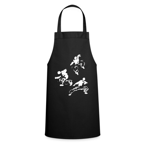 Kung fu circle / ink fighter in motion - Cooking Apron