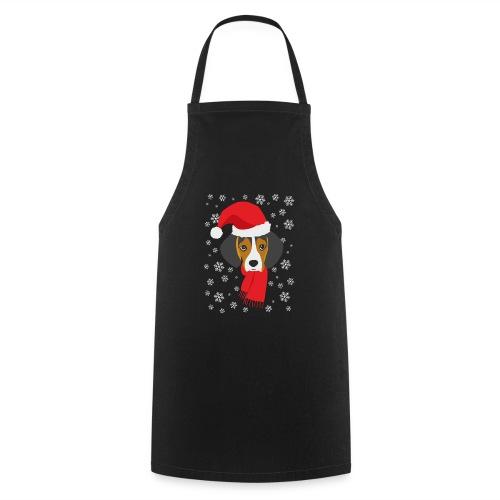 Perrito beagle vestido de Papá Noel - Delantal de cocina