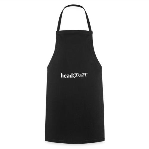 headCRASH Logo white - Kochschürze