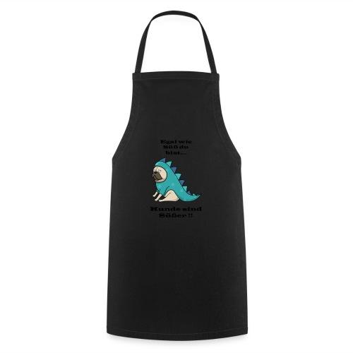 hund schwarz - Kochschürze