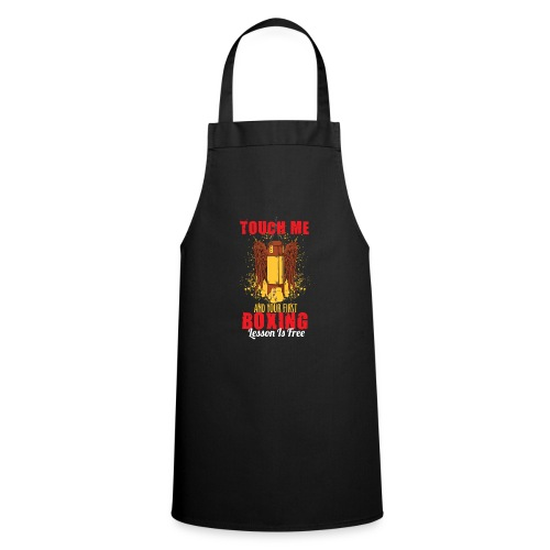 Touch Me And Your First Boxing Lesson Is Free - Cooking Apron