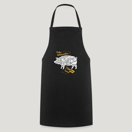 lecker Schweinchen lustiges Grill Shirt Geschenk - Kochschürze