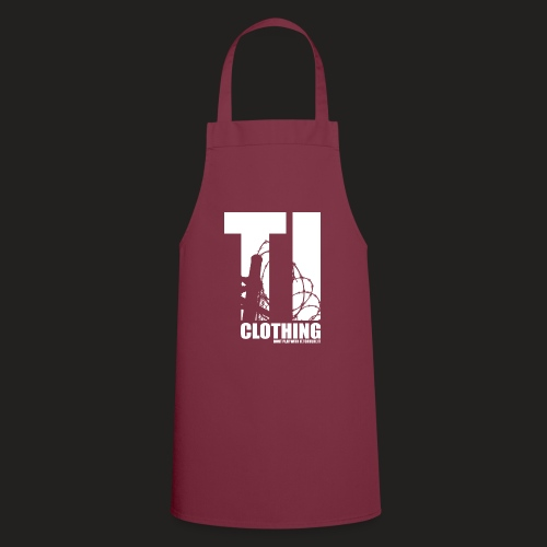 TORTURED IRON LOGO IN WHITE - Cooking Apron