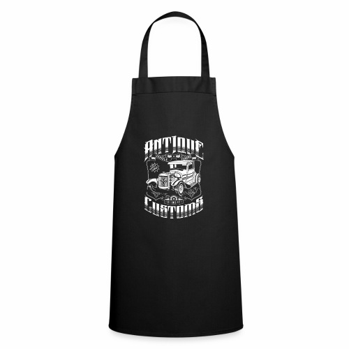Hot Rod - Antique Customs (white) - Cooking Apron