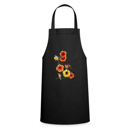 birds in flowers - Cooking Apron