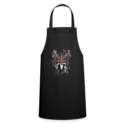 Deer Unicorn Flowers - Cooking Apron