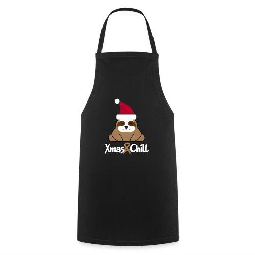 Faultier Weihnachten süß lustig Geschenk - Kochschürze