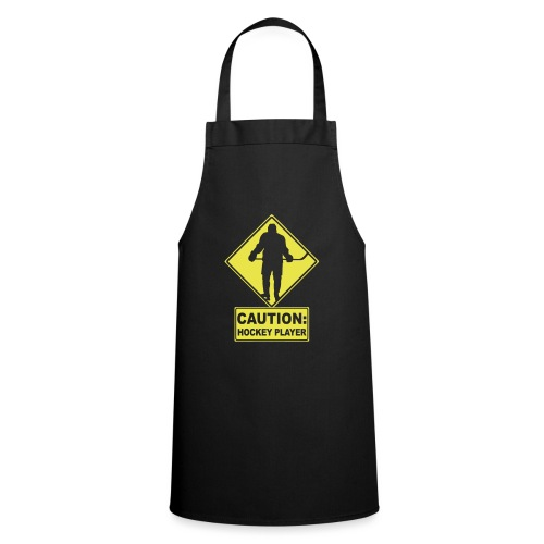 CAUTION: Hockey Player - Cooking Apron