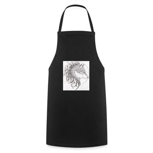 wolf_i_a_moon_tribal_tatt - Kochschürze