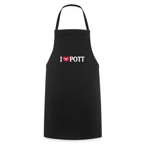I love POTT mit Hammer und Schlägel - Kochschürze