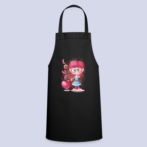 Funny and lovely girl cartoon design - Cooking Apron