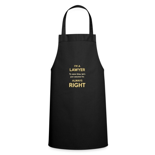Always right. Yellow - Tablier de cuisine