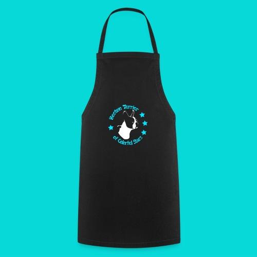 Boston Terrier of Colorful Stars Logo Türkis - Kochschürze