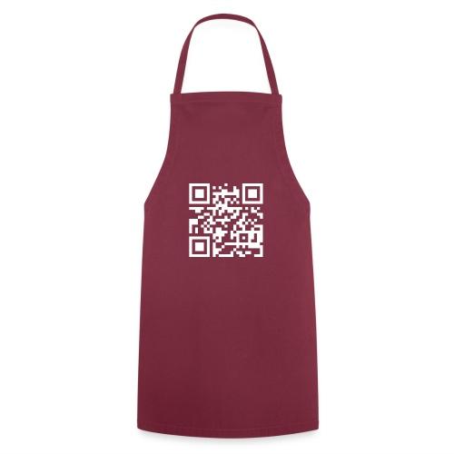 QR Barcode - met je eigen tekst - Keukenschort