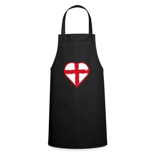 Heart St George England flag - Cooking Apron