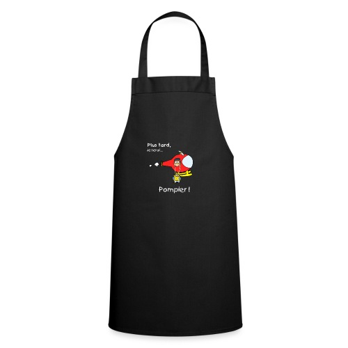 t-shirt grossesse futur pompier - Cooking Apron