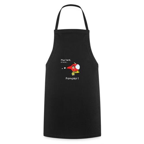 t-shirt grossesse futur pompier - Delantal de cocina