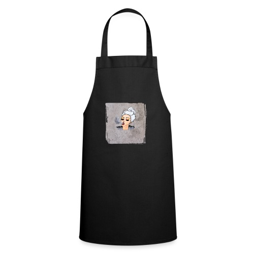 Girl blowing air or else - Cooking Apron