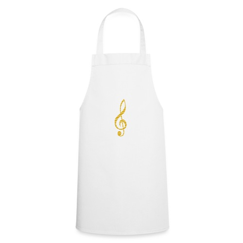 Goldenes Musik Schlüssel Symbol Chopped Up - Cooking Apron
