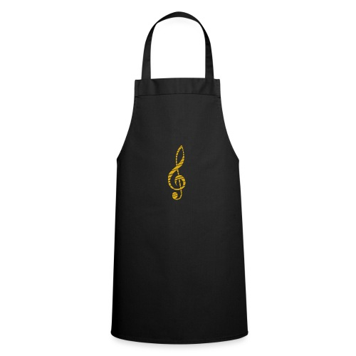 Goldenes Musik Schlüssel Symbol Chopped Up - Cooking Apron
