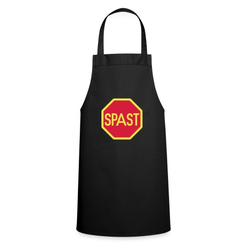 Yellow STOP Spast Schild - Kochschürze