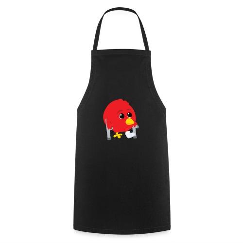 Oiseau rouge blessé - Tablier de cuisine