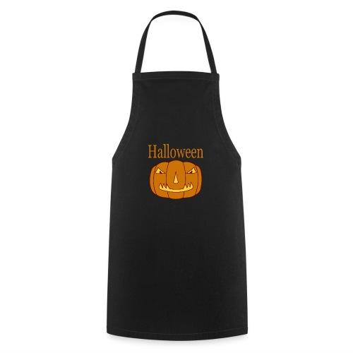 Halloween Kürbis mit Gruselmaske - Kochschürze