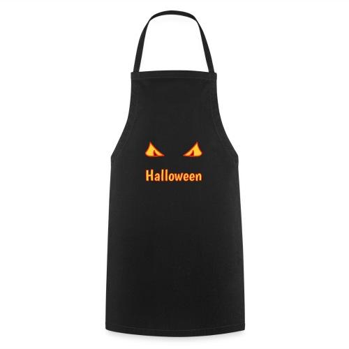 Halloween mit Gruselaugen - Kochschürze