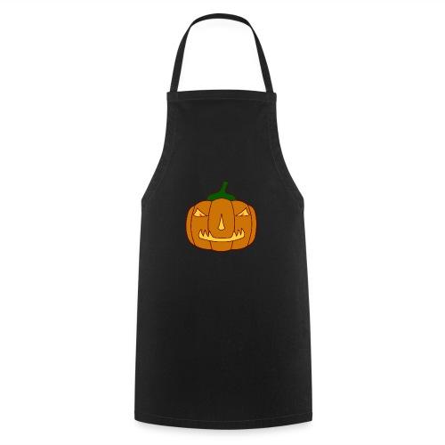 Halloween Kürbis mit Gruselgesicht - Kochschürze