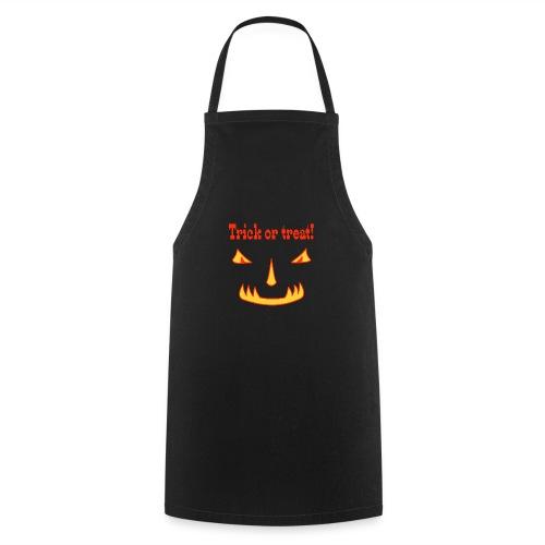 Halloween trick or treat und Monstergesicht - Kochschürze
